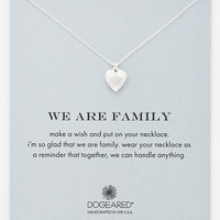 Women's Dogeared 'We Are Family' Boxed Pendant Necklace - Silver