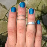 Set Of 3 Adjustable Mid Finger Ring.. on Luulla