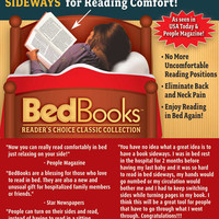 Bed Books, the revolutionary way to print books for comfortable reading in bed.""