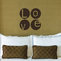 LOVE CIRCLES Vinyl Wall Decals Stickers Art Graphics Custom Lettering