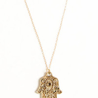 Helping Hamsa Necklace - $18.00: ThreadSence, Women&#x27;s Indie &amp; Bohemian Clothing, Dresses, &amp; Accessories