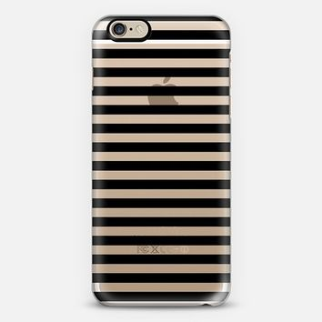 Classic Black Stripes Transparent iPhone 6 case by Organic Saturation | Casetify