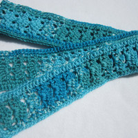 Shades of Blue Scarf Fifty Shells and Lace