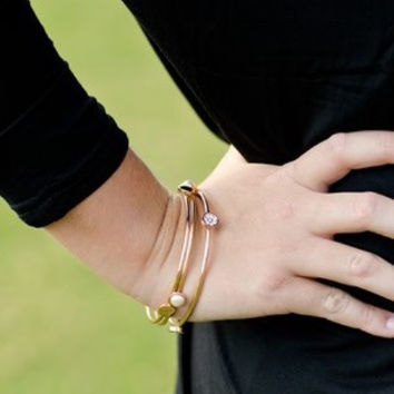 And All That Jazz Bangles in Gold
