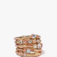 Rhinestoned Stack Rings
