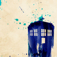 Doctor Who TARDIS Rustic Art Print by Colin Capurso | Society6