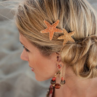 Sugar Starfish Hairclip Set