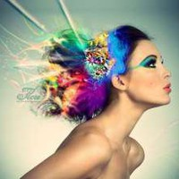 Model With Colorful Hair - Wallpapers Collection