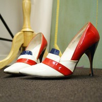 sz 5 Frederick's of Hollywood Patriot Pumps by nickiefrye on Etsy