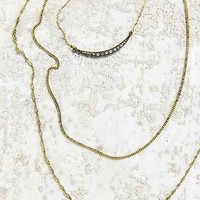 Layers Of Gold Necklace- Gold One