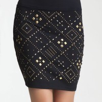 Studded T Mini Skirt