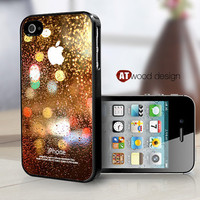 covers for the iphone black iphone 4 case iphone 4s case iphone 4 cover colorized Rain and glass design printing ($13.99)