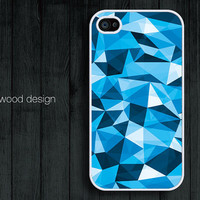 iphone 4 case iphone 4s case iphone 4 cover illustrator blue edge design printing ($13.99)