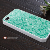 iphone 4 case iphone 4s case iphone 4 cover classic illustrator blue flower graphic design printing ($13.99)