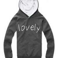 Fashion Concise Mens Letter Printed Grey Cotton Hoodies S/M/L/XL @NH5S8YJ339H