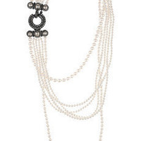 Lanvin | Multi-strand glass pearl necklace | NET-A-PORTER.COM