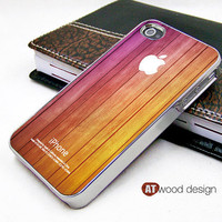 silvery iphone 4 case iphone 4s case iphone 4 cover beautiful wood texture yellow and pink colors style unique Iphone case design ($16.99)