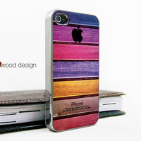silvery iphone 4 case iphone 4s case iphone 4 cover Iphone colorized wood texture image unique design printing ($16.99)
