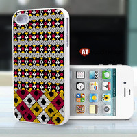 unique  iphone 4 case iphone 4s case iphone 4 cover unique case illustration black yellow red  pattern design printing ($16.99)
