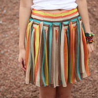 Striped skirt IMMEDIATE SHIPPING by JulyS on Etsy