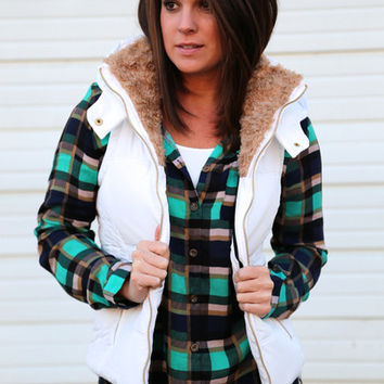 Backwoods Lodge Vest {White}
