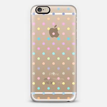 Pastel Multicolor Polka Dot Transparent iPhone 6 case by Organic Saturation | Casetify