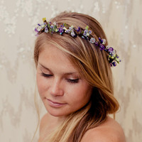 Twisted Purple Garden Fairy Nature Crown