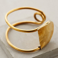 Colossal Safety Pin Cuff by Winifred Grace Gold One Size Jewelry