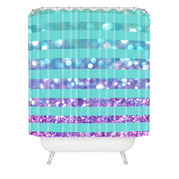 Lisa Argyropoulos Tango Frost Stripes Shower Curtain