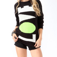 Neon Love Longline Sweater