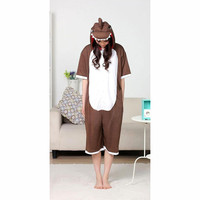 Brown Dinosaur Pattern Cotton Kigurumi Costume Animal Pajamas Plus Size Fancy Dress Costumes [C20120737] - £29.31 : Zentai, Sexy Lingerie, Zentai Suit, Chemise