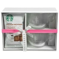 Starbucks Coffee Mug Gift Set for Two with Pike Place Medium Roast Coffee