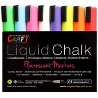 CHALK MARKERS - MEGA 10 Pack - Each Premium Quality Pen With Unique Reversible Tip