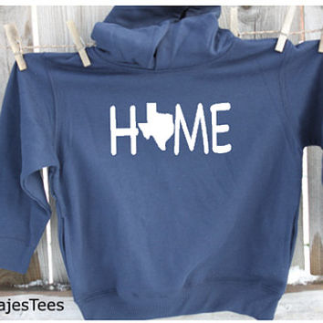 Childrens Texas Home Hoodie, Texas Sweatshirt, Youth, Home