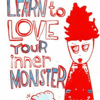 CUSTOMIZED screenprint Learn to love your inner by moonandlion