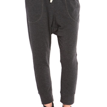 CHARCOAL FRENCH TERRY HAREM SWEATPANTS