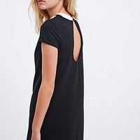 Cooperative Mary Mack Collar Dress in Black - Urban Outfitters