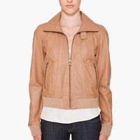 Diesel Leather Bomber Jacket for women