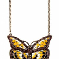 From Paris with Love! - Jugendstil Precious Butterfly pendant ketting