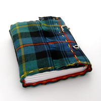 Scottish Kilt Tartan Journal and Sketchbook, A Handmade Journal in Plaid