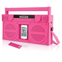 iHome iP4 Portable FM Stereo Boombox for iPhone® and iPod®