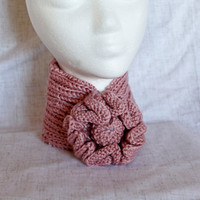 Knit Neck Warmer - Pink - Ready to Ship