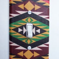 Aztec Weave Single Toggle Switchplate Switch Plate