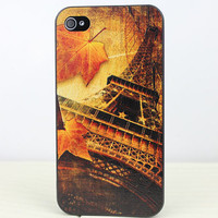 Autumn The Eiffel Tower Hard Case Cover for Apple iPhone 4gs Case, iPhone 4s Case, iPhone 4 Hard Case