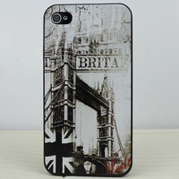 Tower Bridge Black Hard Case Cover for Apple iPhone 4gs Case, iPhone 4s Case, iPhone 4 Hard Case