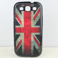 Retro Union Jack Black Hard Shell for Samsung Galaxy S3 i9300