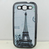 Retro The Eiffel Tower Deep Blue Hard Shell for Samsung Galaxy S3 i9300