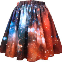 Crimson Galaxy Starcluster Skirt
