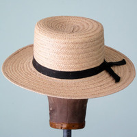 straw boater hat by SallyJaneVintage