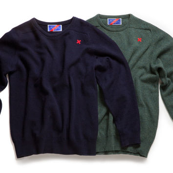 Lambswool Crew Neck Sweater - Lambswool Crewneck Sweater /